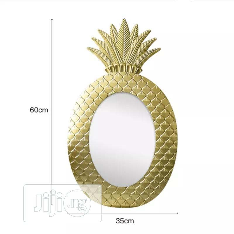Pineapple Shape Wall Mounted Mirror | Home Accessories for sale in Lagos Island, Lagos State, Nigeria