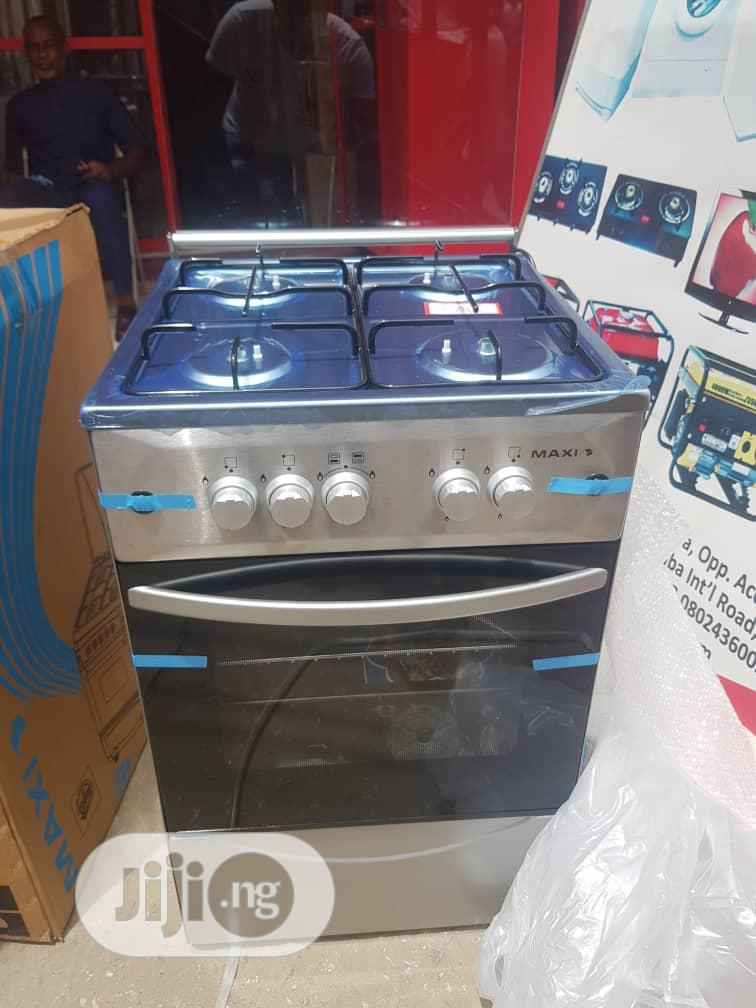 Archive: Brand New MAXI 4borner All Gas Standing Cooker Oven Silver