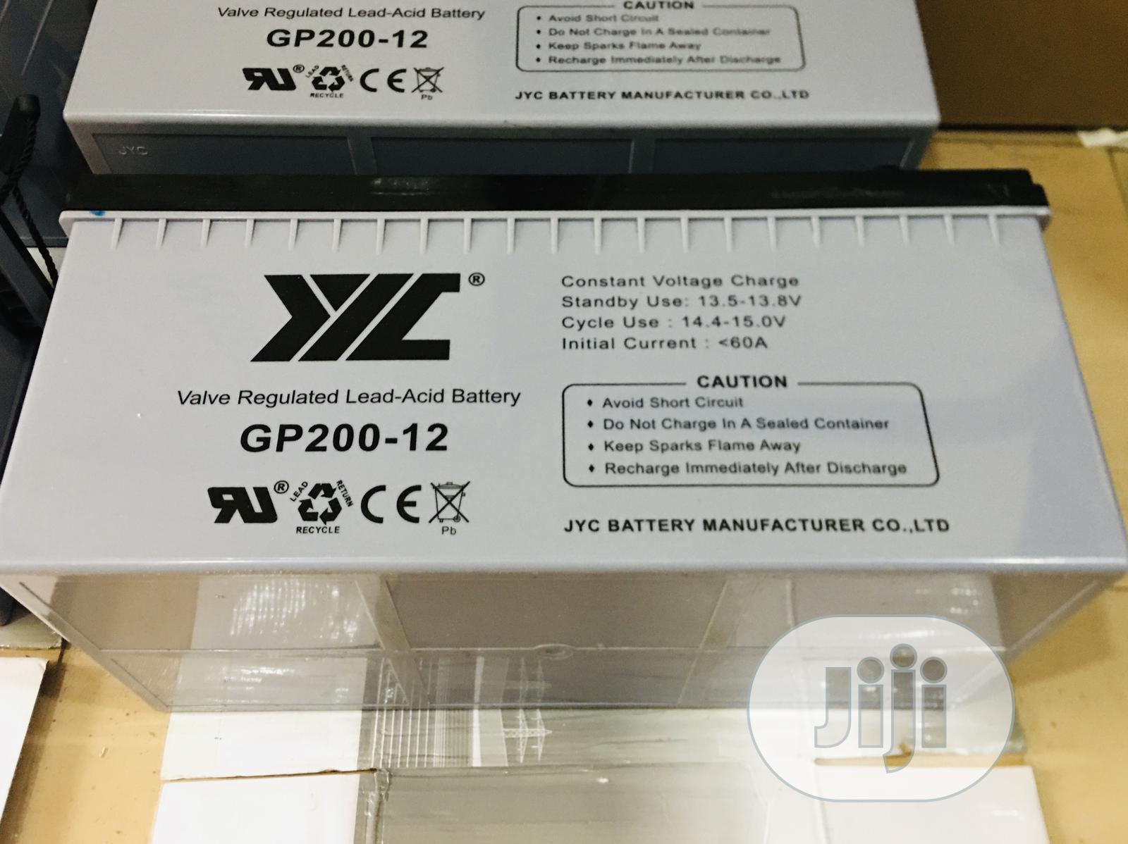 200ah 12v Jyc Solar Battery