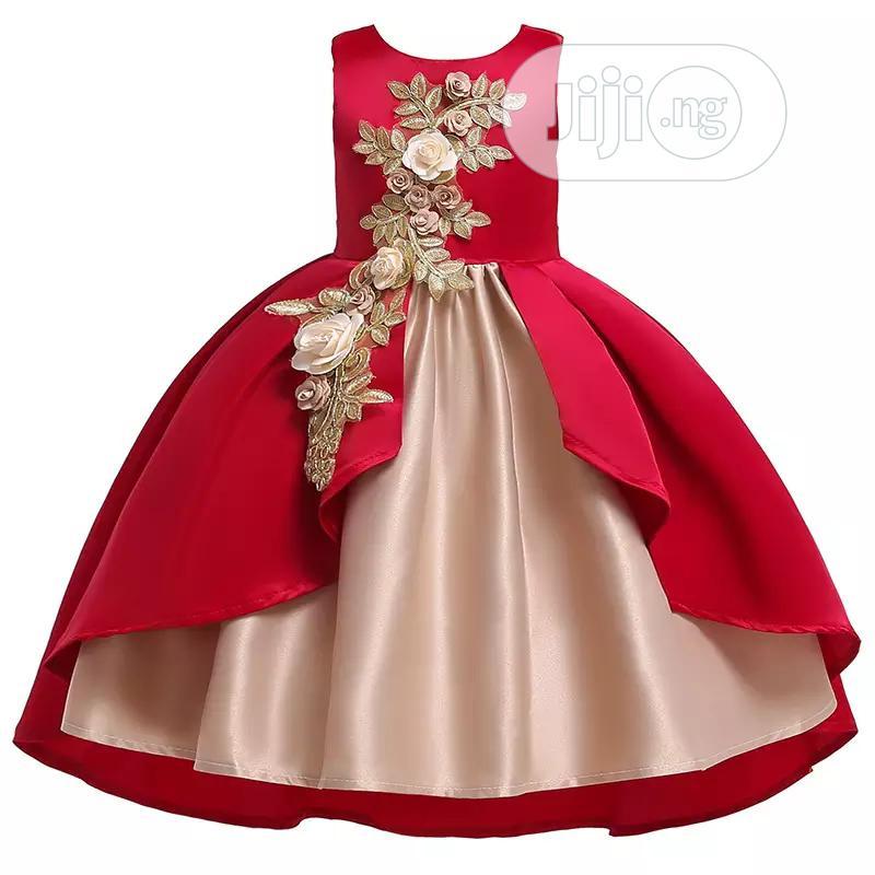 Golden Red Princess Dress