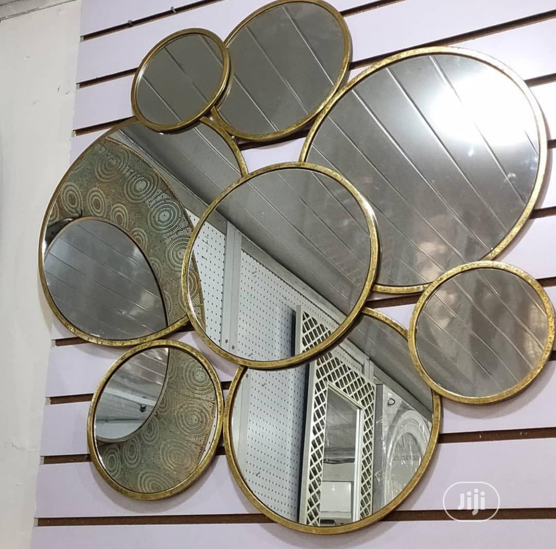 Archive: Disect Gold Edge Multi Facet Wall Mirror