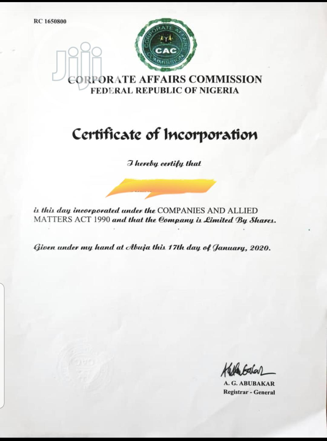 Archive: Company, Business Name And NGO Registrations