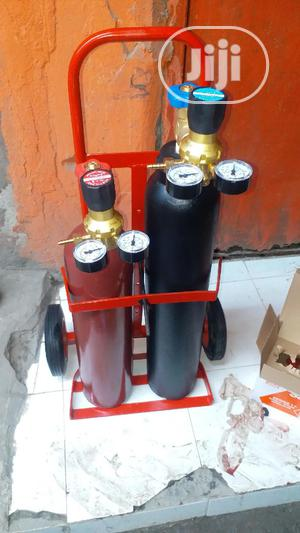 Oxygen And Acetylene Cylinder With Truck | Medical Supplies & Equipment for sale in Lagos State, Ojo