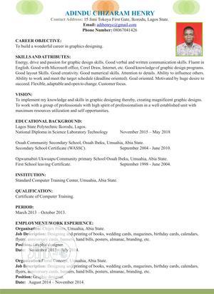 Graphic Designer   Computing & IT CVs for sale in Lagos State, Ikorodu