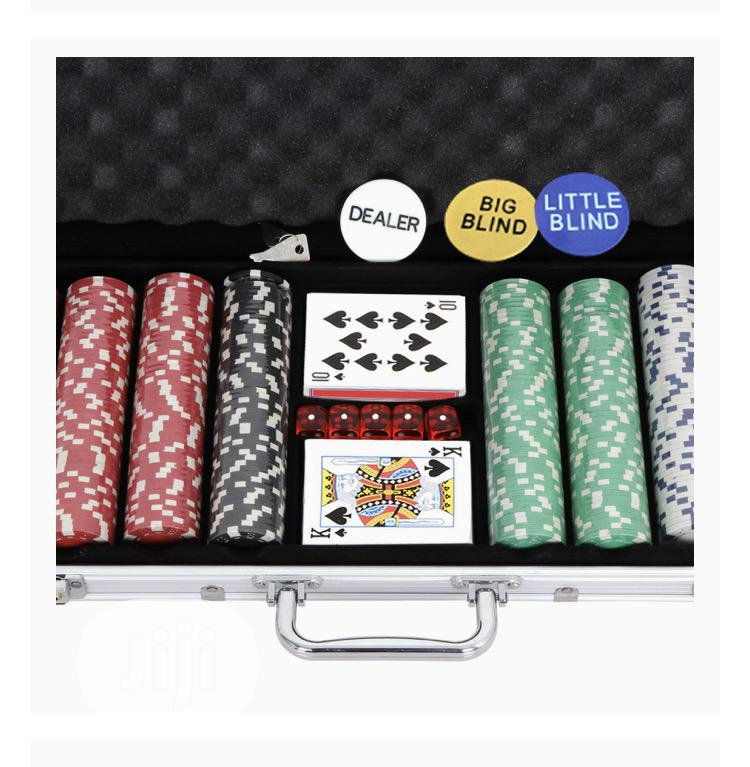 Costway Professional Poker Set W/ Silver Aluminum Case | Books & Games for sale in Lagos Island, Lagos State, Nigeria