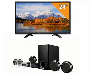 Home Theatre And 24 Inches Plasma | Audio & Music Equipment for sale in Lagos State, Ojo