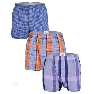 Men 100% Cotton Classic 3-In-1 Boxer Shorts | Clothing for sale in Lagos State, Ikorodu