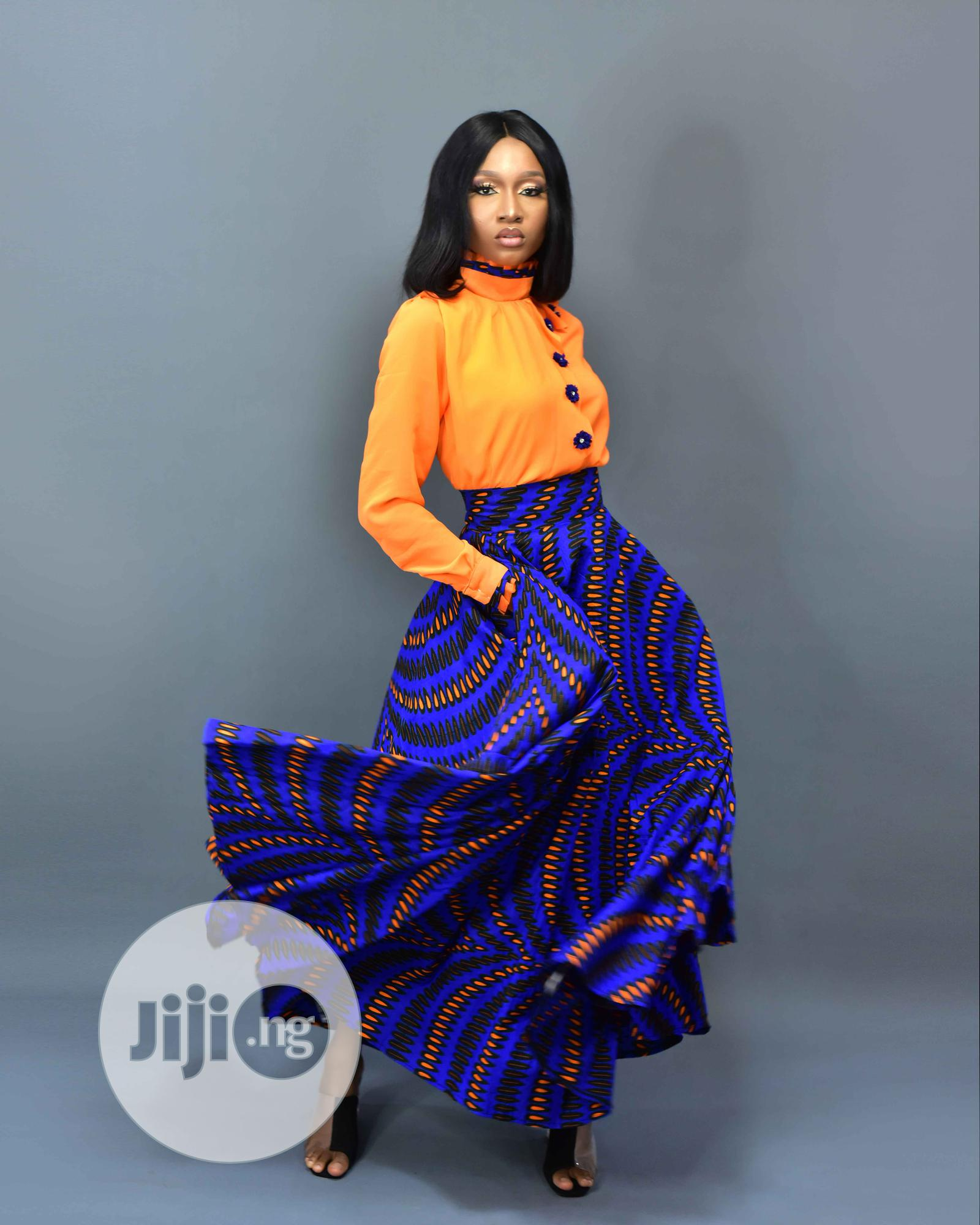 Ankara Skirt With Shirt