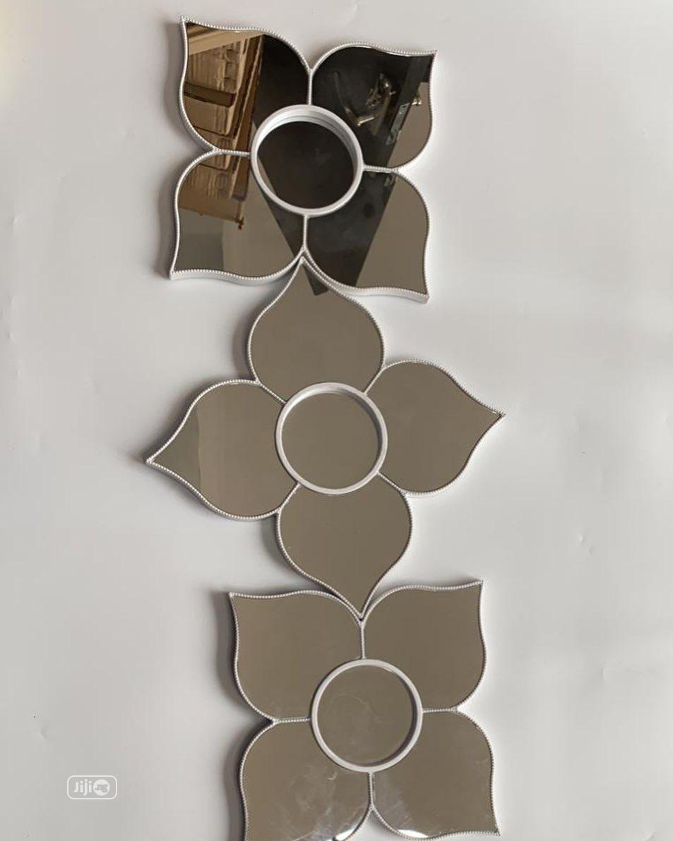 3pcs Star Wall Mirror Decor