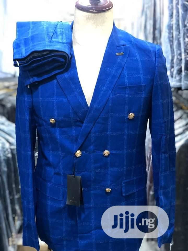 Double Breasted Checked Suit | Clothing for sale in Lagos Island, Lagos State, Nigeria