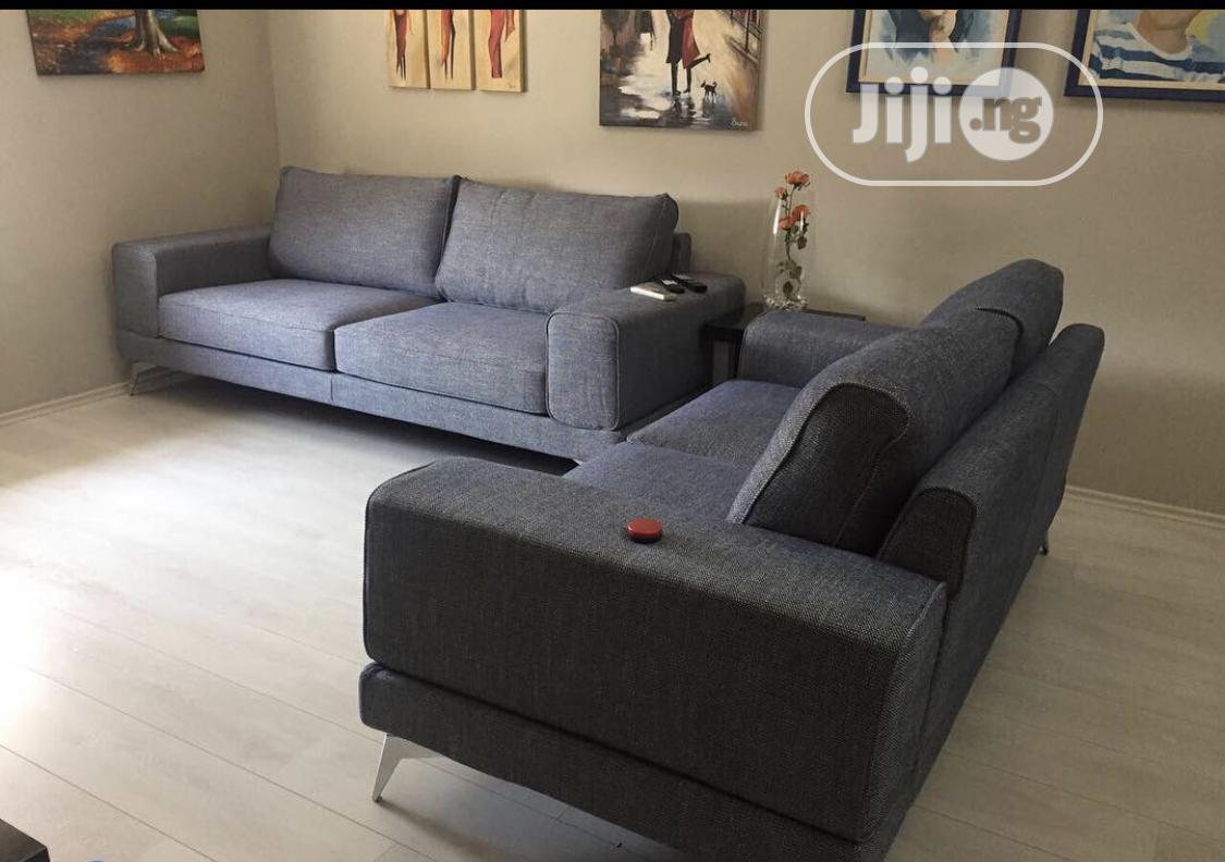 Grey Luxurious 7 Seater Sofa