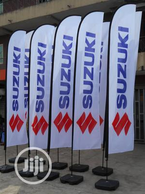 Advertising Flags- Beach & Feather & Tear Drop Flags I Flag Banners | Printing Services for sale in Lagos State, Ikeja