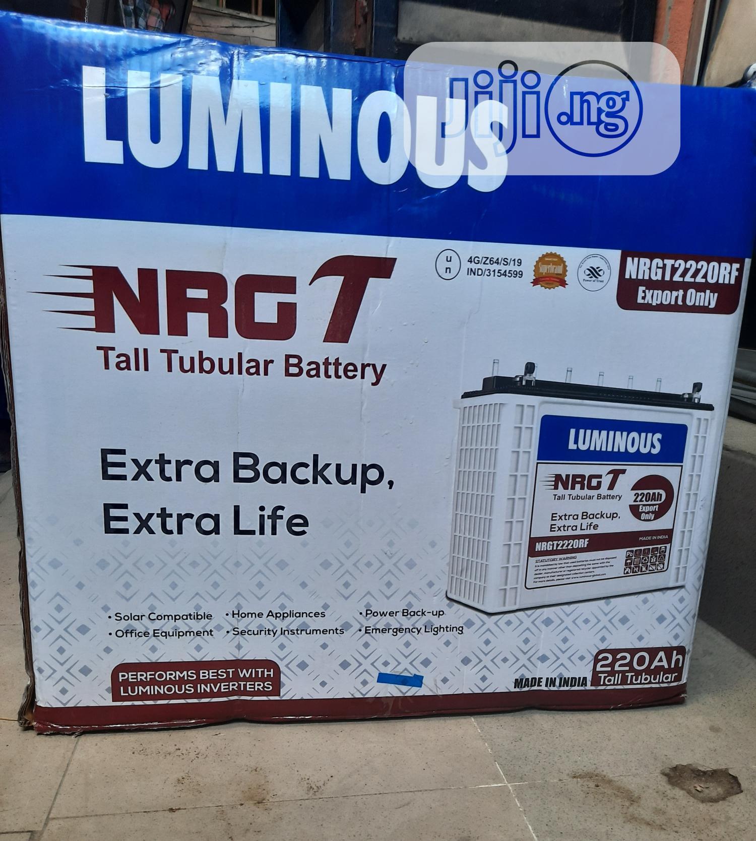 Luminous Battery Tubular 12v/220ah | Solar Energy for sale in Ojo, Lagos State, Nigeria