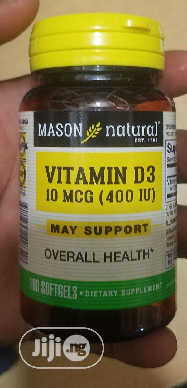 Mason Natural Vitamin D3 10mcg 400iu