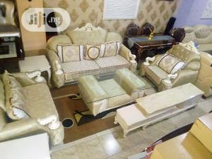 Good Quality Royal Chairs With Table And Tv Shelf | Furniture for sale in Lagos State, Lekki