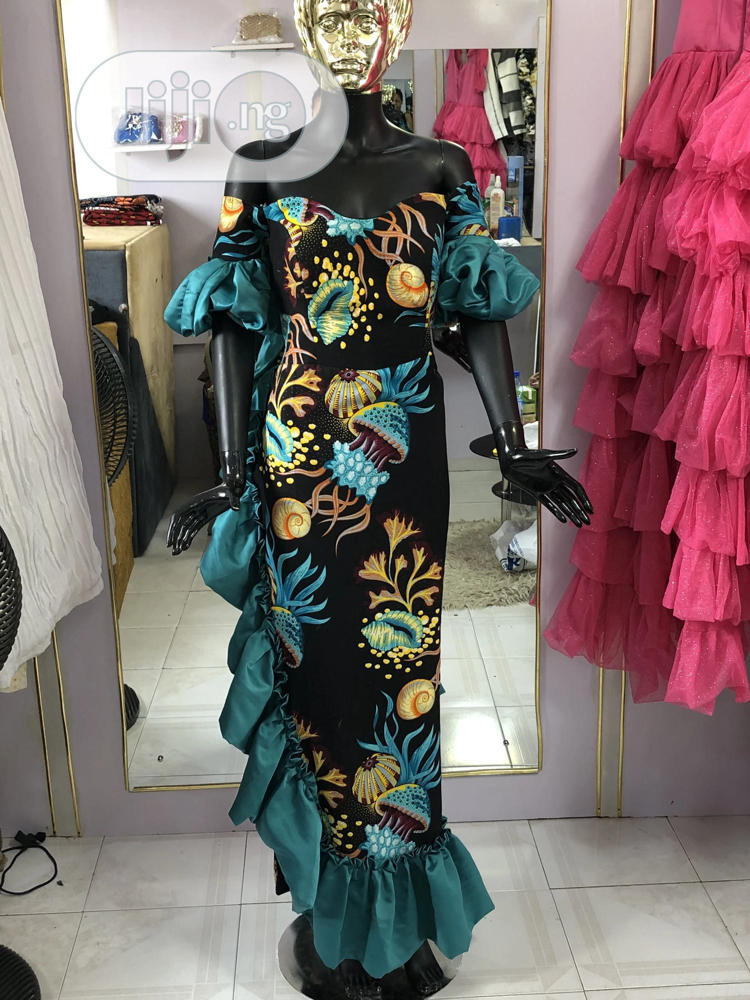 Ankara Long Dress | Clothing for sale in Amuwo-Odofin, Lagos State, Nigeria