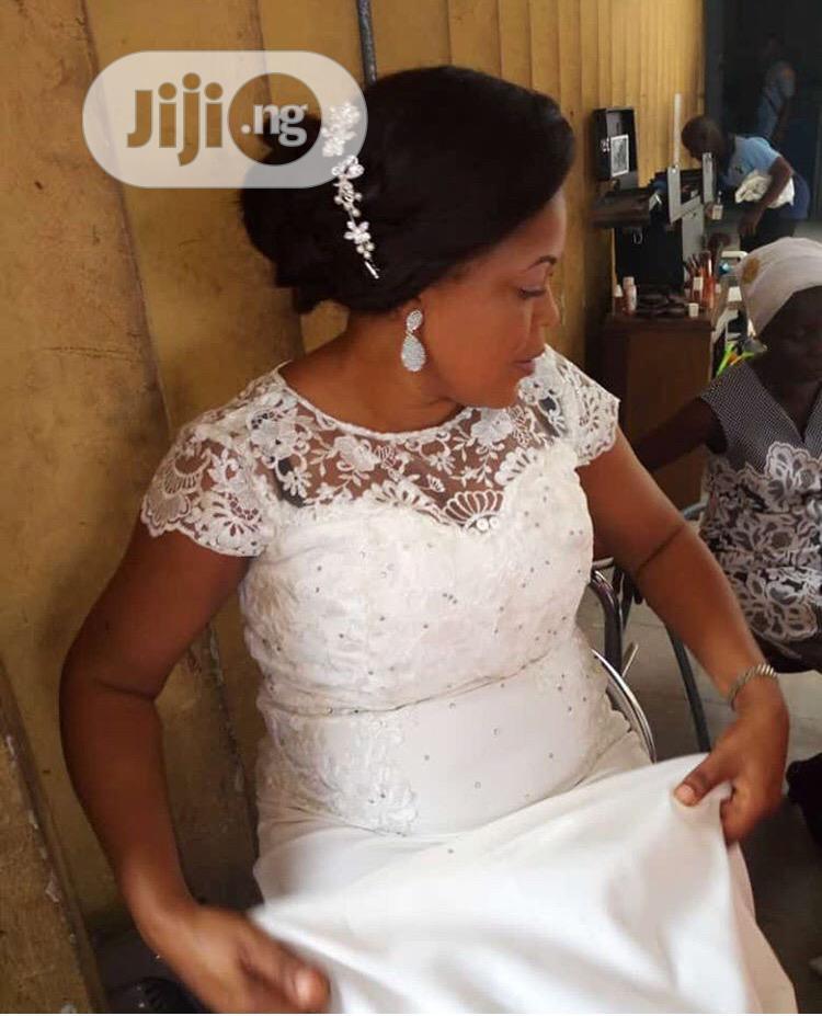 White Reception Court Wedding Gown