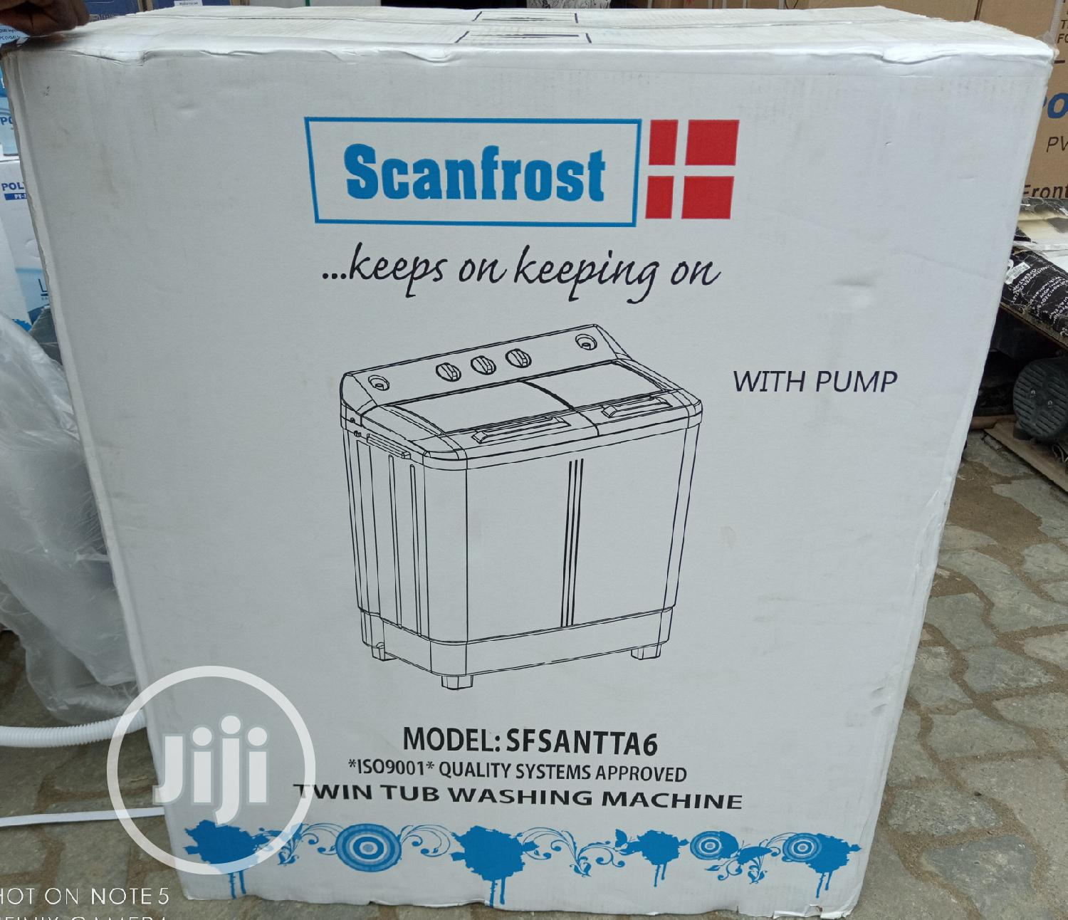 Scanfrost 7kg Washing And Spining | Home Appliances for sale in Lagos Island (Eko), Lagos State, Nigeria
