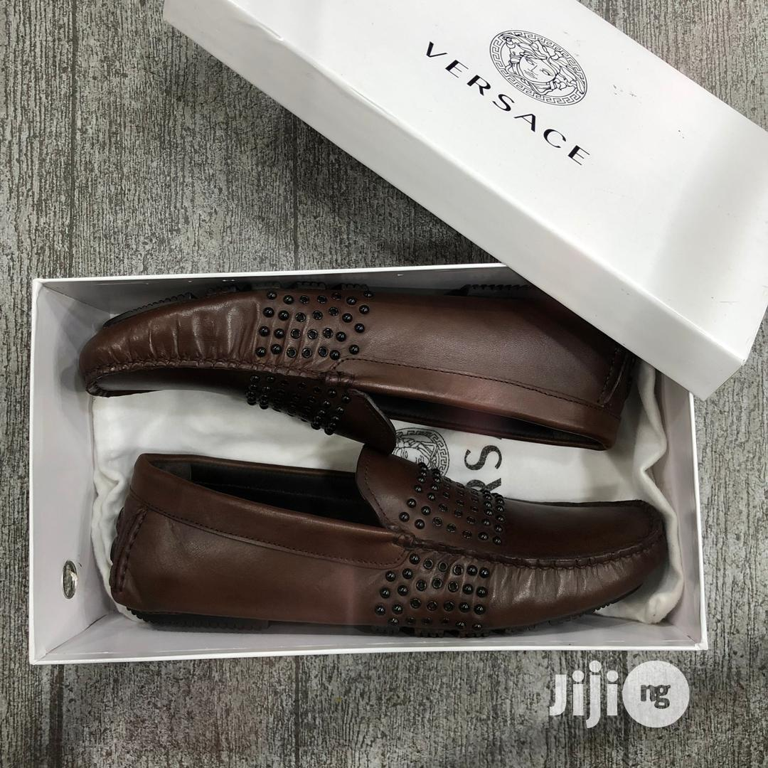 Archive: Versace Drivers Shoe (Brown)