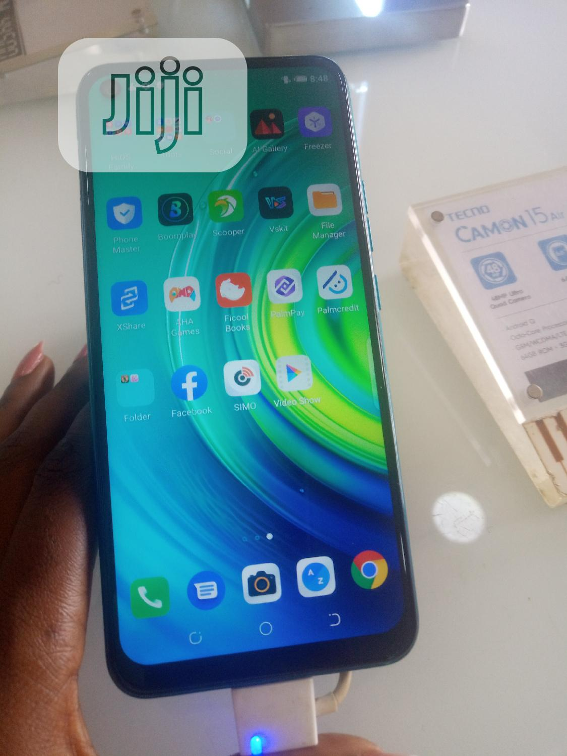 New Tecno Camon 15 Air 64 GB Blue | Mobile Phones for sale in Ojo, Lagos State, Nigeria