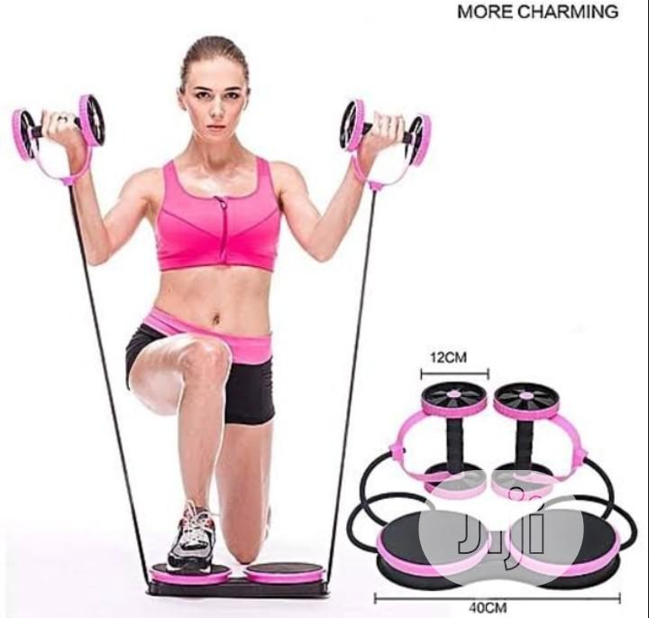Multifunctional Abdominal Wheel Abs Fitness / Exercise Kit | Sports Equipment for sale in Amuwo-Odofin, Lagos State, Nigeria