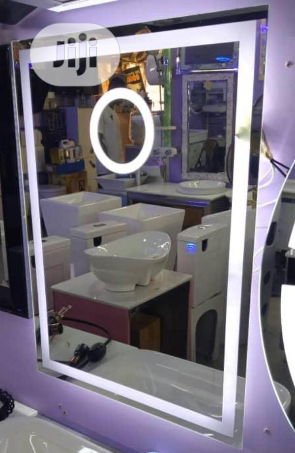 Wall Mirror With LED Lighting
