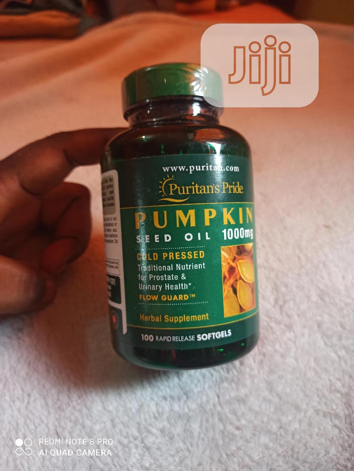 Pumpkin Seed Oil Softgel 1000 Mg   Vitamins & Supplements for sale in Yaba, Lagos State, Nigeria