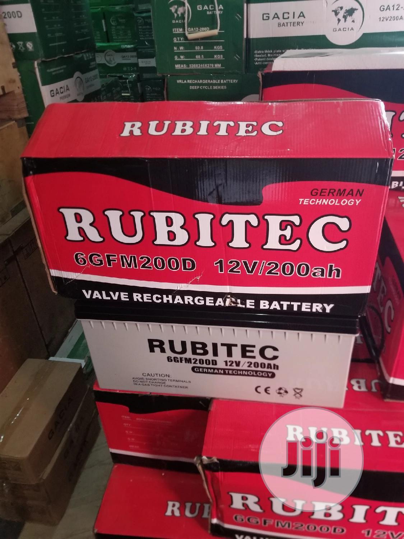 200ah Rubitec Battery   Solar Energy for sale in Ojo, Lagos State, Nigeria