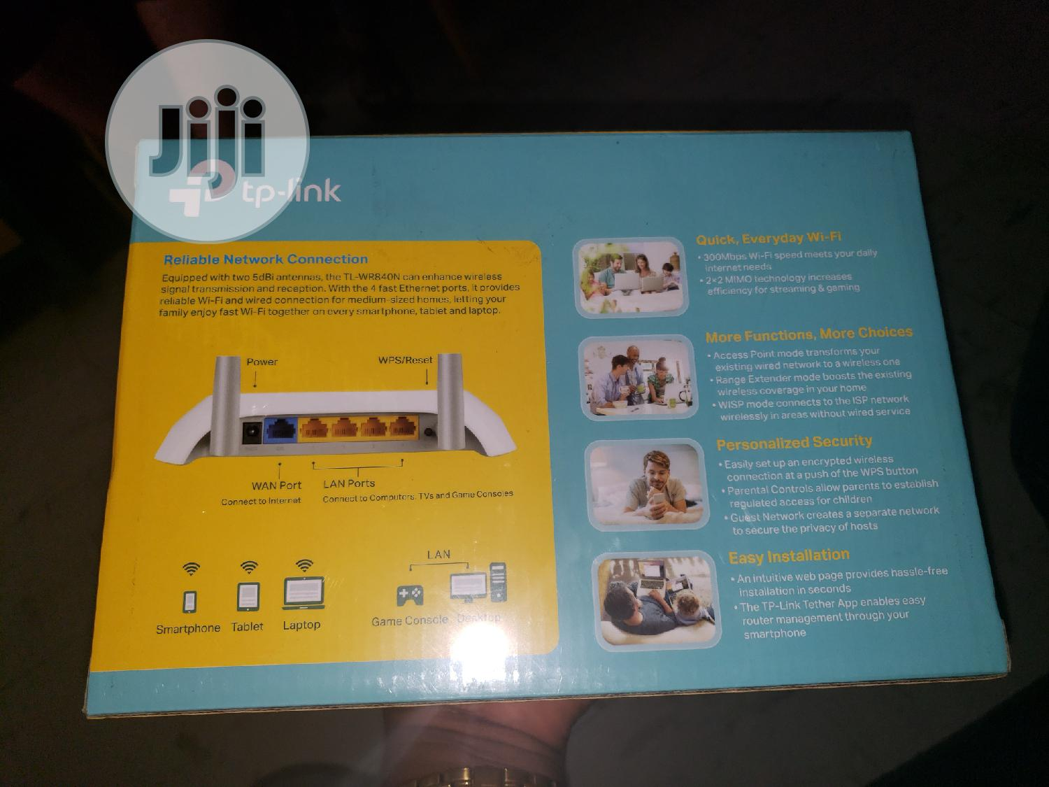 Tp-link 300mbps Wireless N Router Tl-wr840n   Networking Products for sale in Ikeja, Lagos State, Nigeria