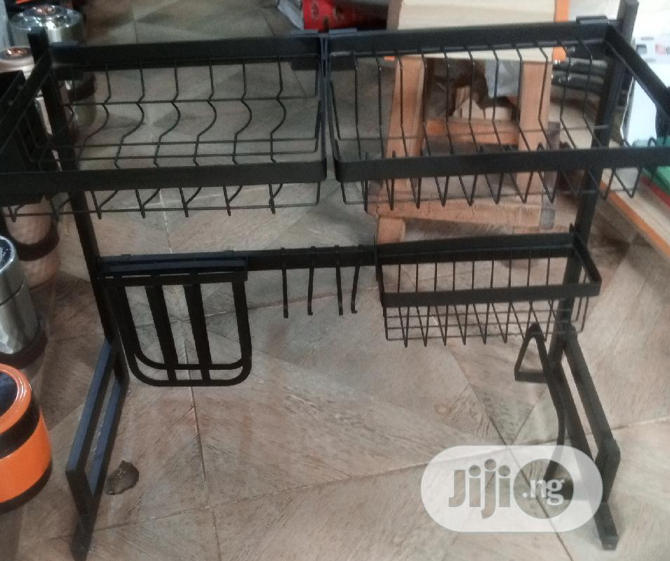 Large Over Sink Dish Drying Rack Drainer Stainless Steel Kitchen Holde
