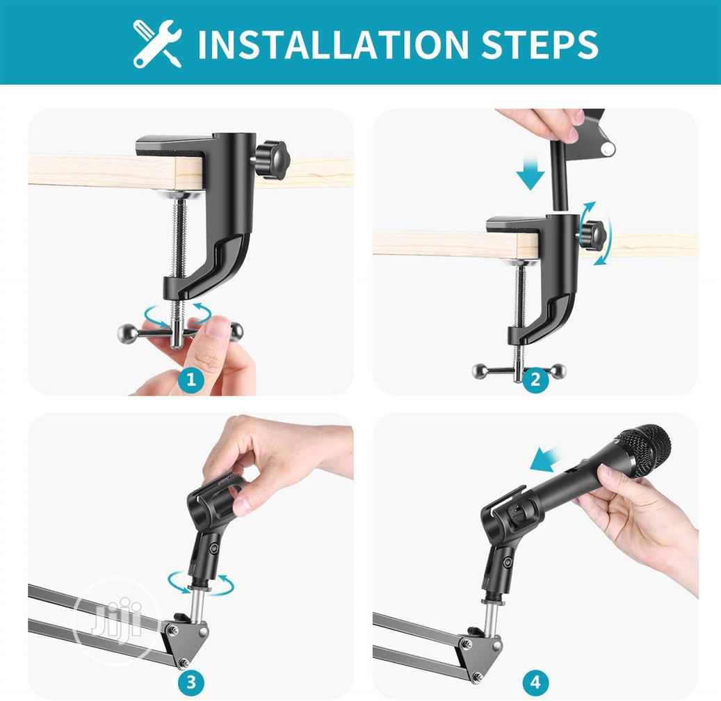 Extendable Recording Microphone Holder Boom Arm Stand | Accessories & Supplies for Electronics for sale in Lekki, Lagos State, Nigeria