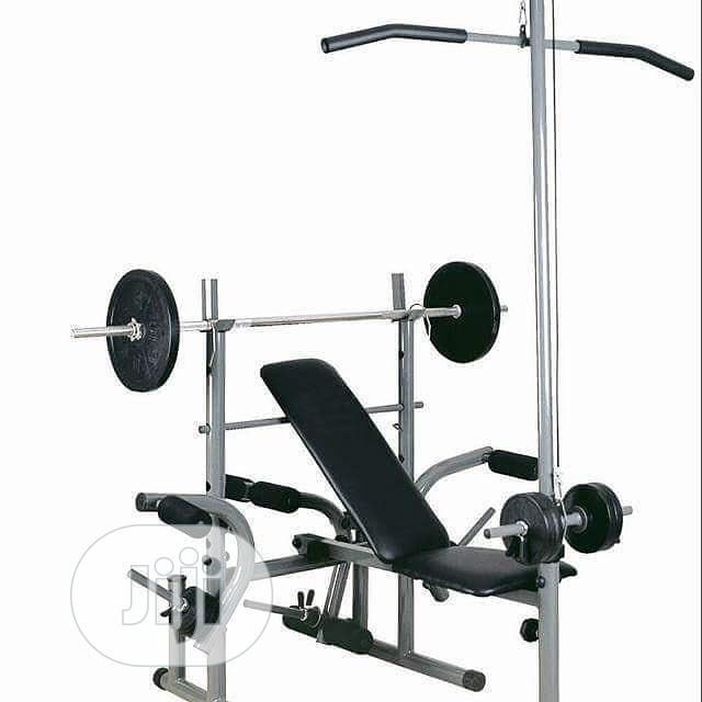 Weight Bench and 50kg Dumbbell