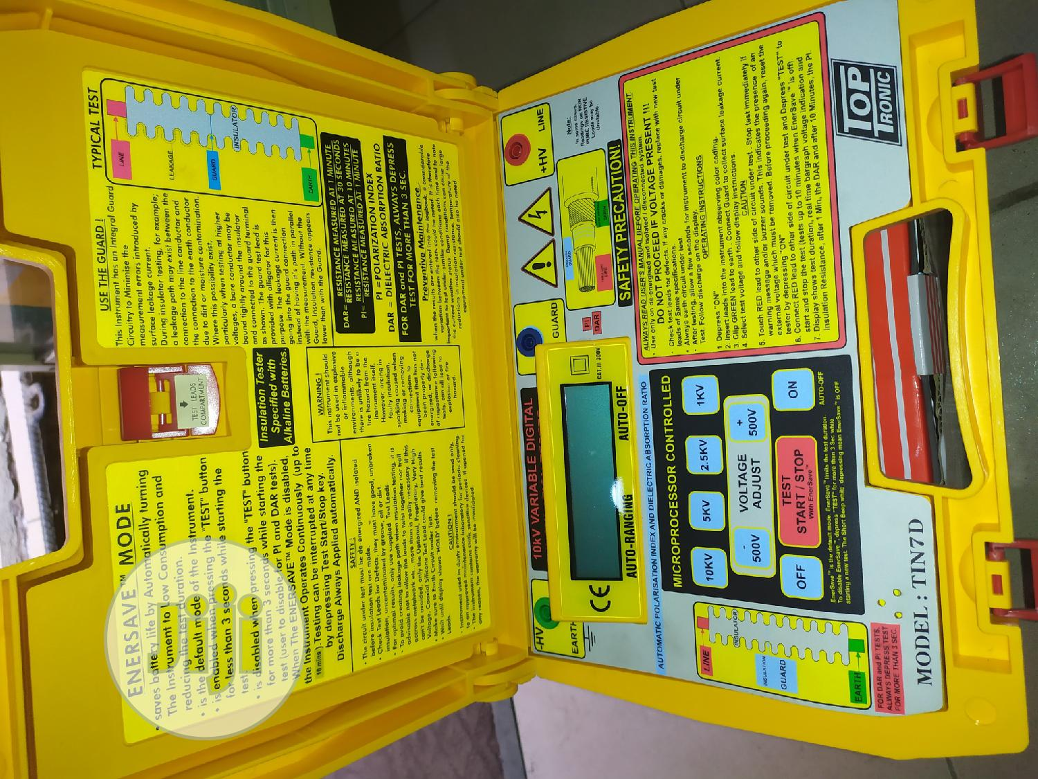 Toptronic 10kv Insulation Resistance Tester | Measuring & Layout Tools for sale in Ojo, Lagos State, Nigeria