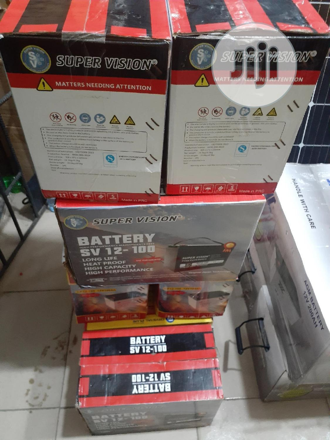 100A Super Vision Bettery | Solar Energy for sale in Isolo, Lagos State, Nigeria