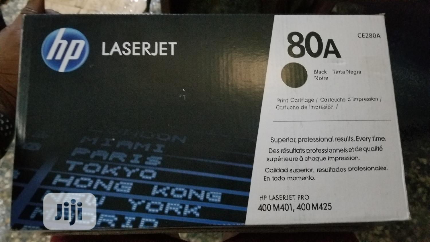 Hp 80a Black Toner Cartridge | Accessories & Supplies for Electronics for sale in Ikeja, Lagos State, Nigeria