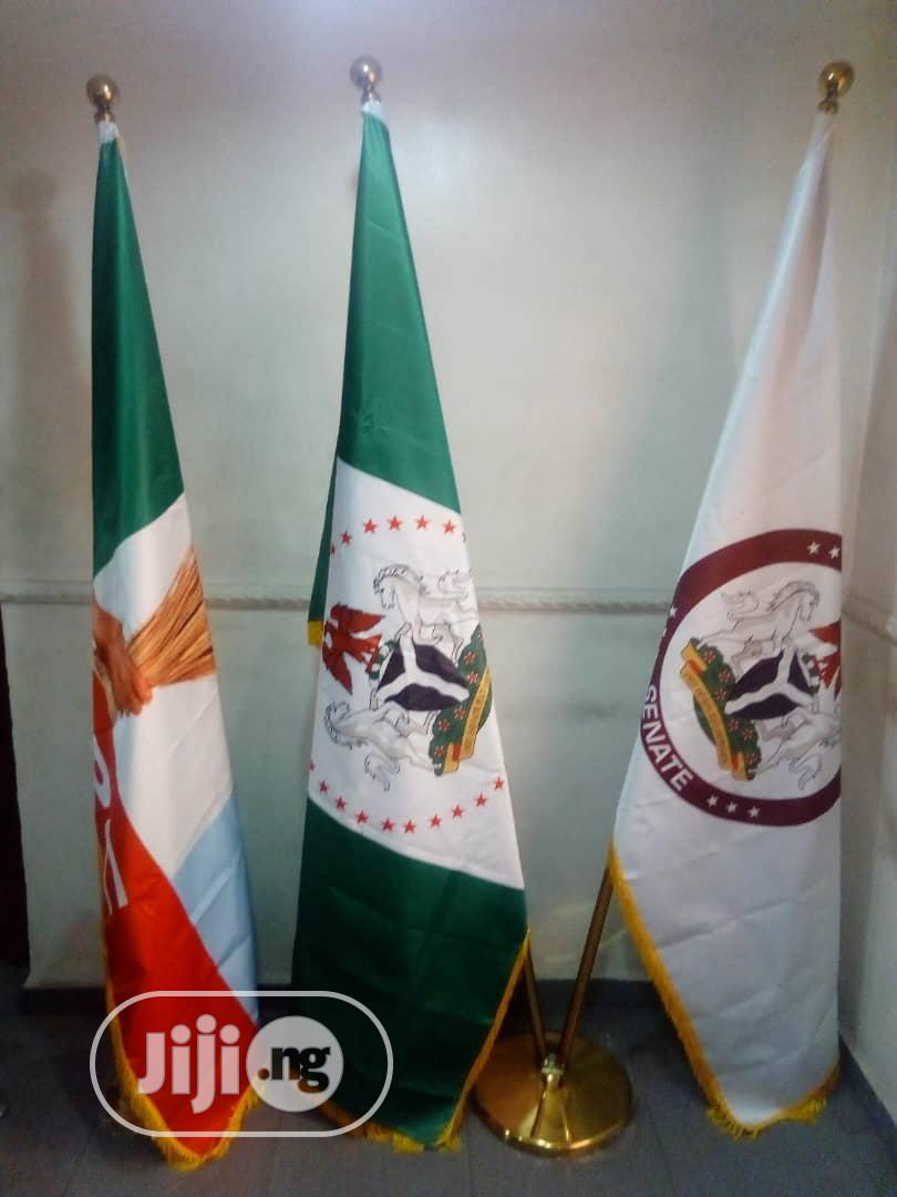 Ceremonial & Executive Indoor Flag With Stand   Manufacturing Services for sale in Ikeja, Lagos State, Nigeria