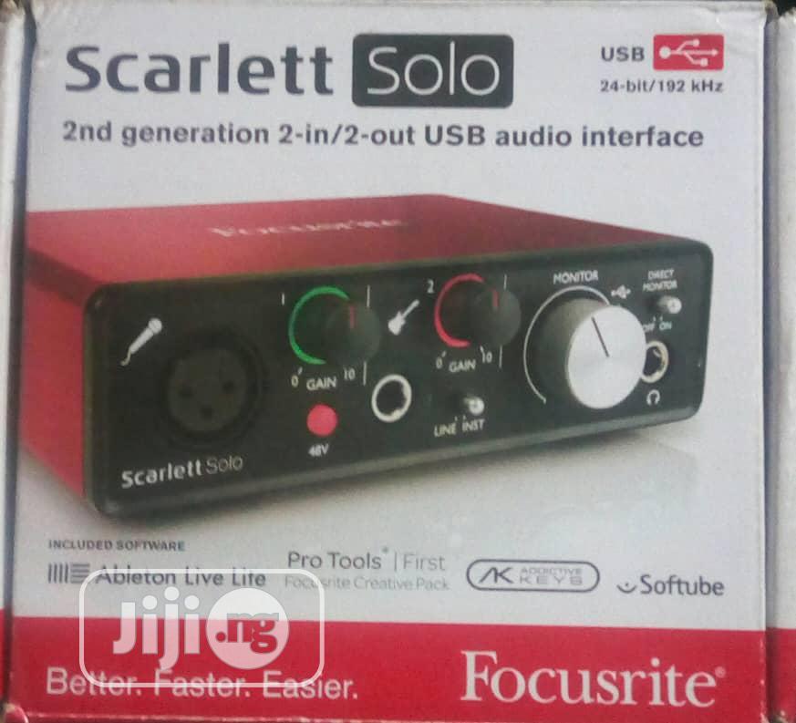 Archive: Focusrite Soundcard