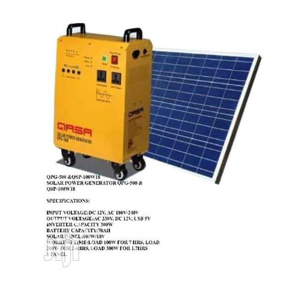 QASA Solar Power Generator Qps-500 And Qsp-100w18v