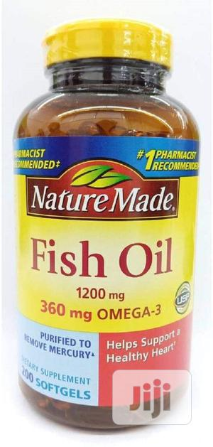 Nature Made Fish Oil 1200 Mg (360 Mg Omega-3) 200 Liquid Softgels | Vitamins & Supplements for sale in Lagos State, Ojo