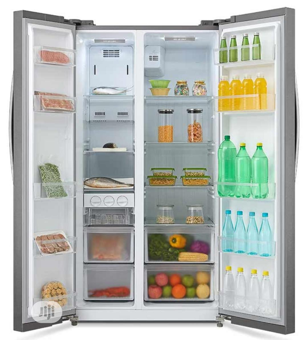 510 Litres Midea Side By Side Refrigerator HC-689WEN | Kitchen Appliances for sale in Ojo, Lagos State, Nigeria