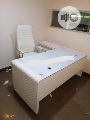 White Office Table And Chair