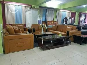 Complete Set of Sofa, Center Table and TV Stand