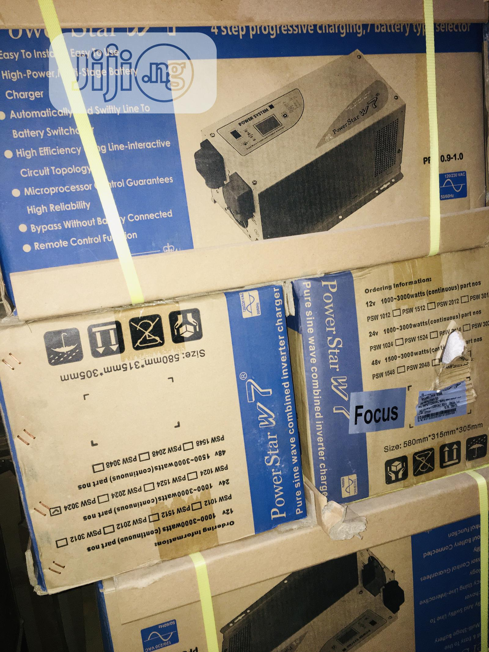 5kva 24v Power Star Pure Sine Wave Inverter Available With 1yrwaranty | Electrical Equipment for sale in Ojo, Lagos State, Nigeria