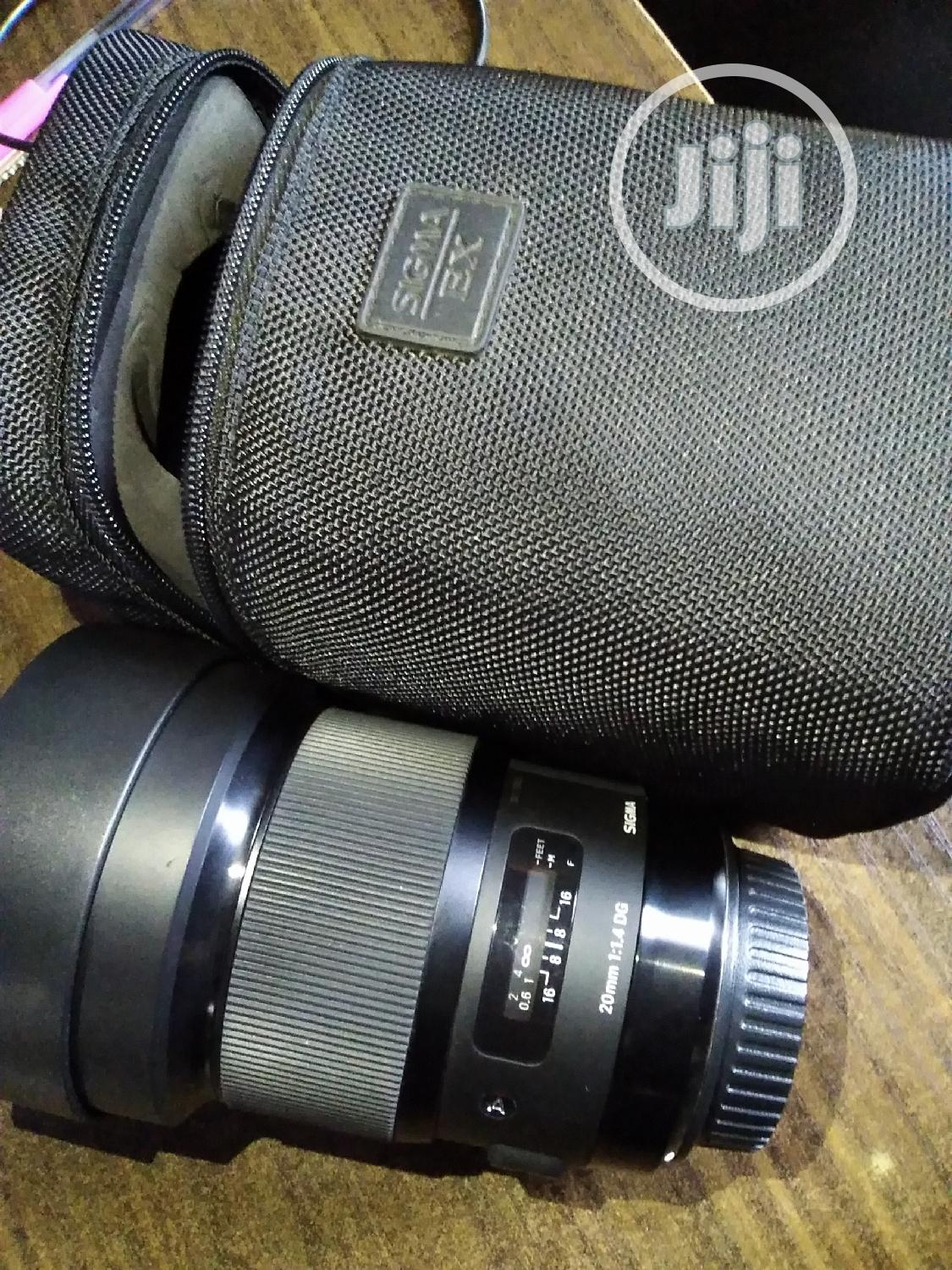 20mm Sigma Art Lens 1.4 For Canon
