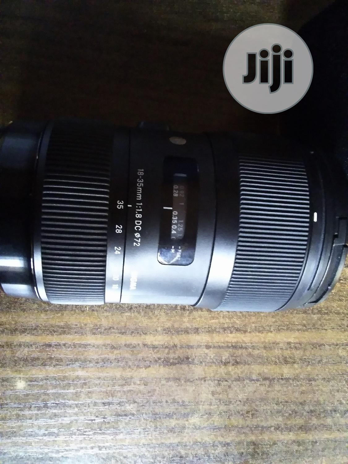 Canon 18-35mm F/1.8 Sigma Art Lens | Accessories & Supplies for Electronics for sale in Alimosho, Lagos State, Nigeria