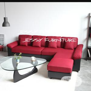 New Set of L-Shaped Sofa,With a Glass Center Table | Furniture for sale in Lagos State, Lekki