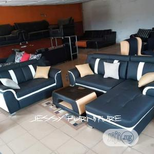 New Set of L-Shaped Sofa With Two Seater and a Center Table | Furniture for sale in Lagos State, Ikeja