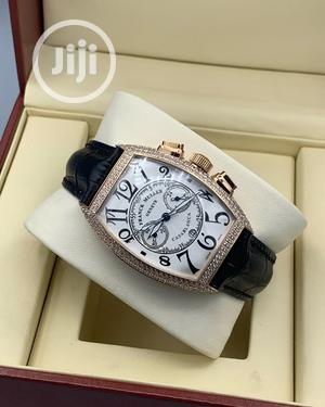 Franck Muller Ice Head Chronograph Rose Gold Leather Strap Watch   Watches for sale in Lagos State, Lagos Island (Eko)