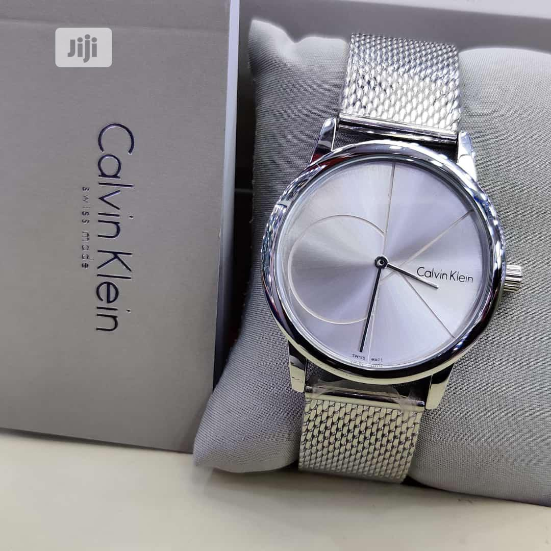 Calvin Klein (CK) Silver Net Chain Watch