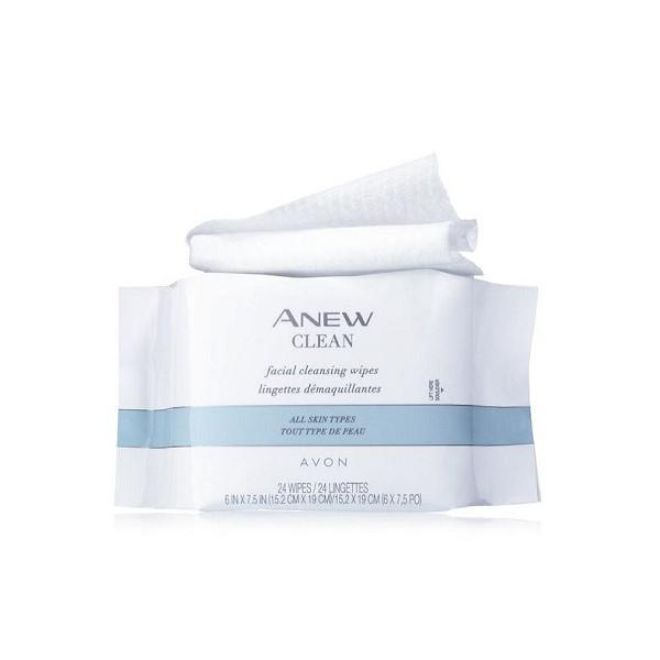 Archive: Avon Anew Clean Facial Cleansing Wipes - 24 Wipes